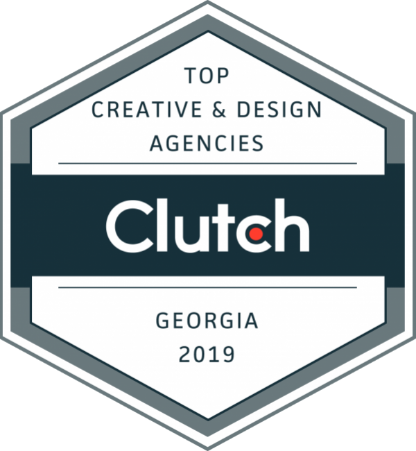 Clutch top award for creative design agencies in Georgia 2019